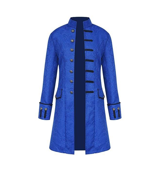 Hombres Largo Chaquetas Manga Larga Ropa de Abrigo Punk Jacket Parka Vintage Vapor Coat Tops Outwear, Primavera y Otoño: Amazon.es: Ropa y accesorios