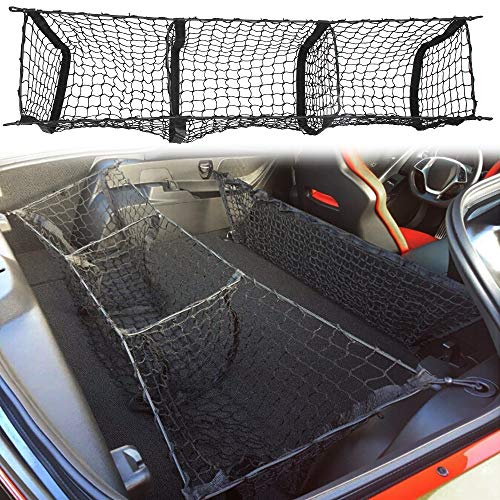 Three Pocket Envelope Truck Cargo Net Fit Corvette C7 Grand 2015 2016 2017 2018 Cargo Organizer Storage Net