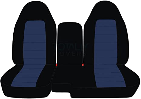 Outstanding Totally Covers Fits 1998 2003 Ford Ranger Mazda B Series Two Tone Truck Seat Covers 60 40 Split Bench W Center Console Armrest Cover Black And Navy Pabps2019 Chair Design Images Pabps2019Com