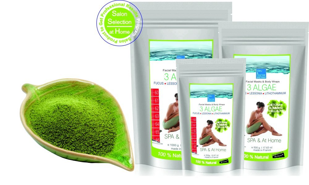 Inch-loss Body Mud Seaweed Wrap 1000 g ● Seaweed Powder for Face, Body and Bath ● Fango d'Alga Cellulite Mud ● Inch-Loss Body Wrap Contour Treatment ● 3 Algae Facial Mask (oily skin, anti acne, psoriasis and eczema)● Helpful in treating Dermatiitis and Ec