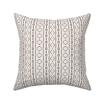 Amazon.com: Roostery Mud Cloth Organic Sateen Throw Pillow ...