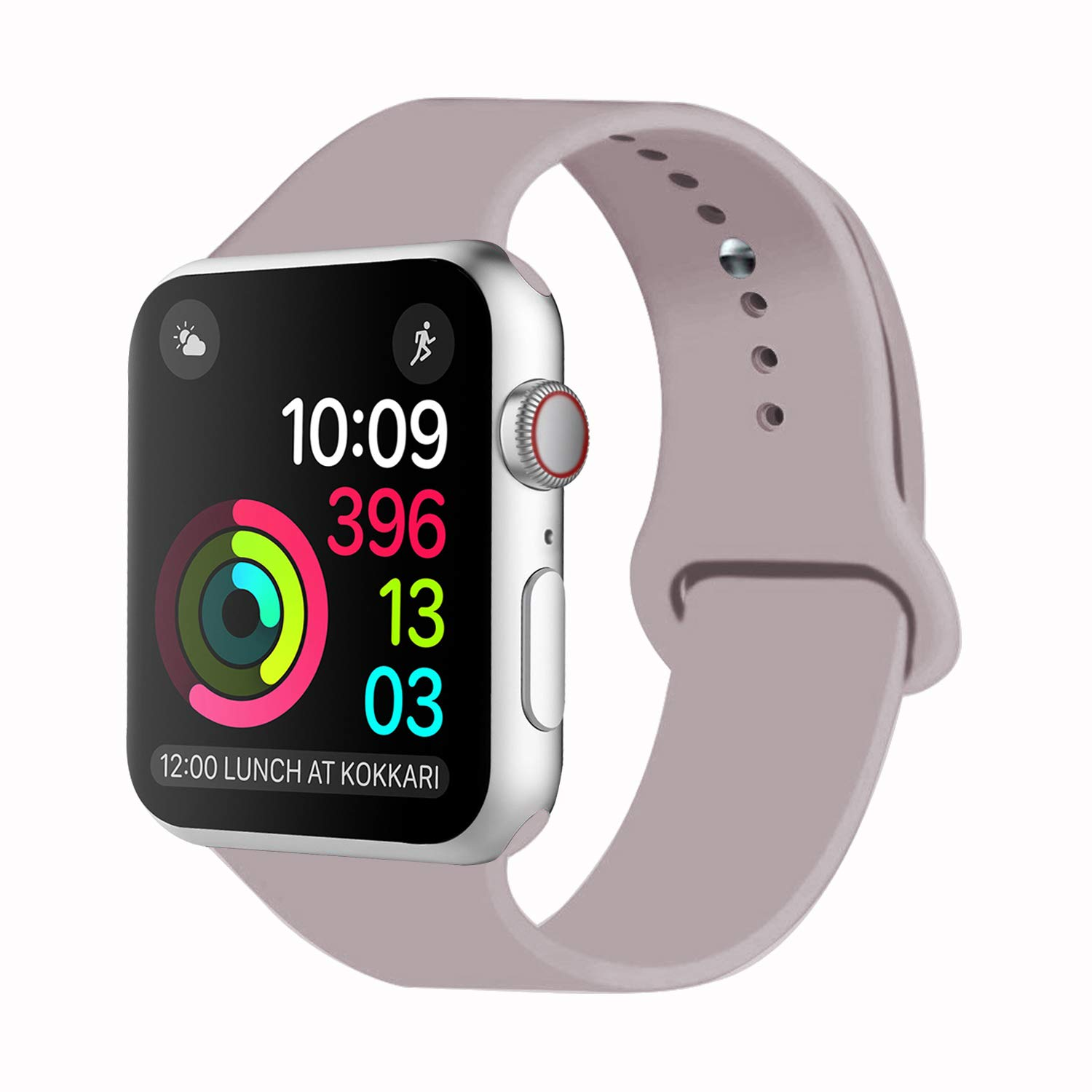IDon Smart Watch Sport Band, Soft Silicone Replacement Sports Band Compatible for Apple Watch Band 2018 Series 4/3/2/1 38MM 40MM 42MM 44MM Apple Watch All Models product image