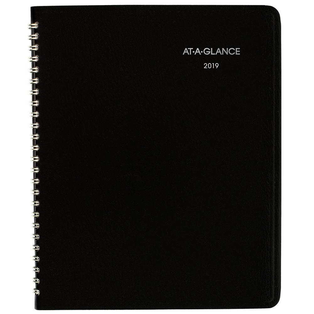AT-A-GLANCE 2019 Monthly Planner, DayMinder, 7'' x 8-3/4'', Medium, Black (G40000)