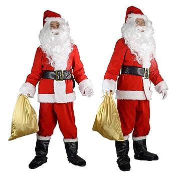 GSDZN - Disfraz De Papa Noel,Papá Noel para Hombre, Papá ...
