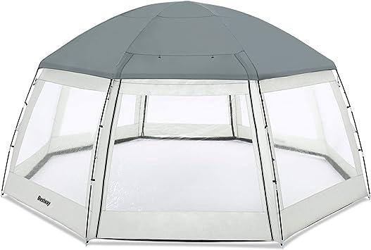 Acier Bestway 11037 Dome abris Piscine Hors Sol 6x6m H:2.95m