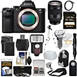 Sony Alpha A7 II Digital Camera Body with FE 24-240mm Lens + 64GB Card + Battery & Charger + Backpack + Strap + Tripod + Flash + Kit