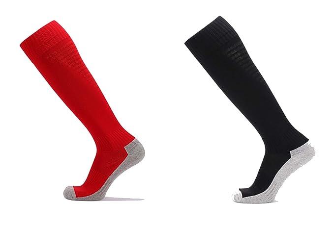 SonMo Calcetines de Deporte Calcetines Antideslizante Hombre Futbol Calcetines Nylon Calcetines Color Negro Rojo Blanco 39