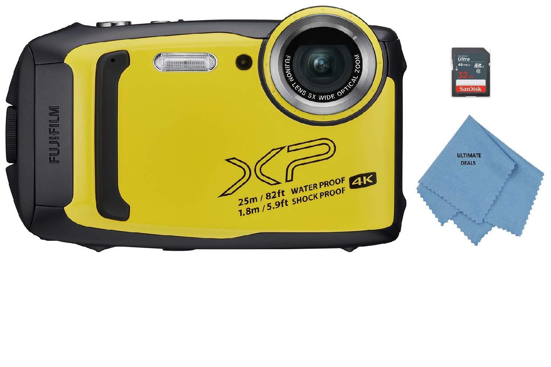 Fujifilm FinePix XP140 Waterproof Digital Camera w/32GB SD Card - Yellow by Ultimate Deals