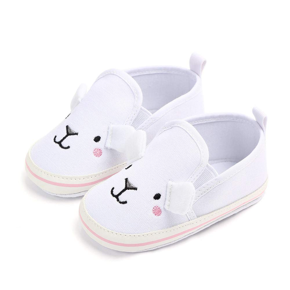 Infant Toddler Boys Girls Baby Crib Shoes Anti-Slip First Walker Canvas Sneakers Soft Sole Prewalker Shoes