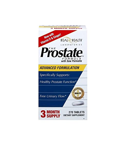 Real Health, The Prostate Formula with Saw Palmetto, 2 Pack 270 Tablets Provides a Gentle, Traditional Approach