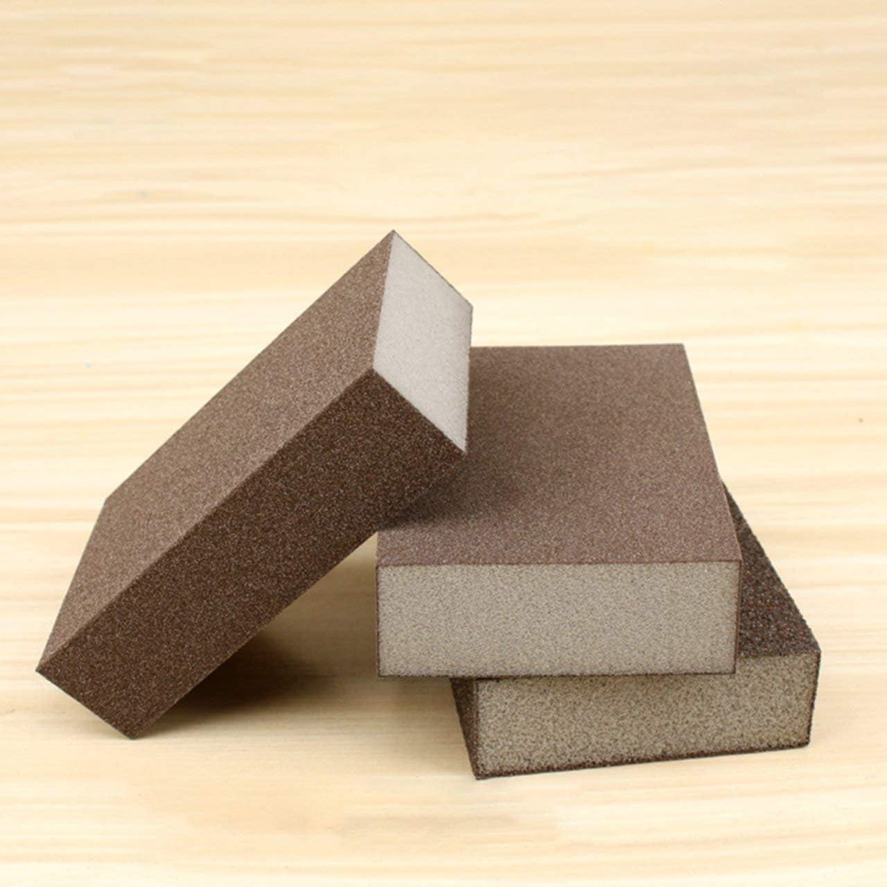 m/étal Assortiment de blocs d/éponges de pon/çage lavable cloisons s/èches id/éal pour le pon/çage et la finition /à la main r/éutilisable brun bois FRjasnyfall fibre de verre