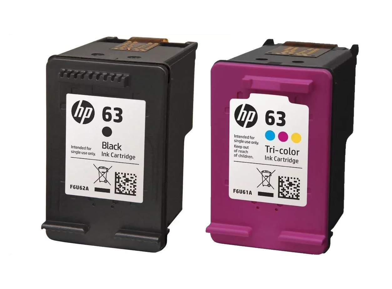 HP 63 Ink Combo Cartridges L0R46AN HP 63 Black & HP 63 Tri-Color HP Ink Cartridges (F6U62AN,F6U61AN) for HP HP OfficeJet 5258 All-in-One Printer Printer by Parts Map (Image #1)