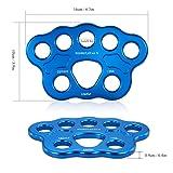 Lixada Paw Rigging Plate 45KN 8/15 Holes Large