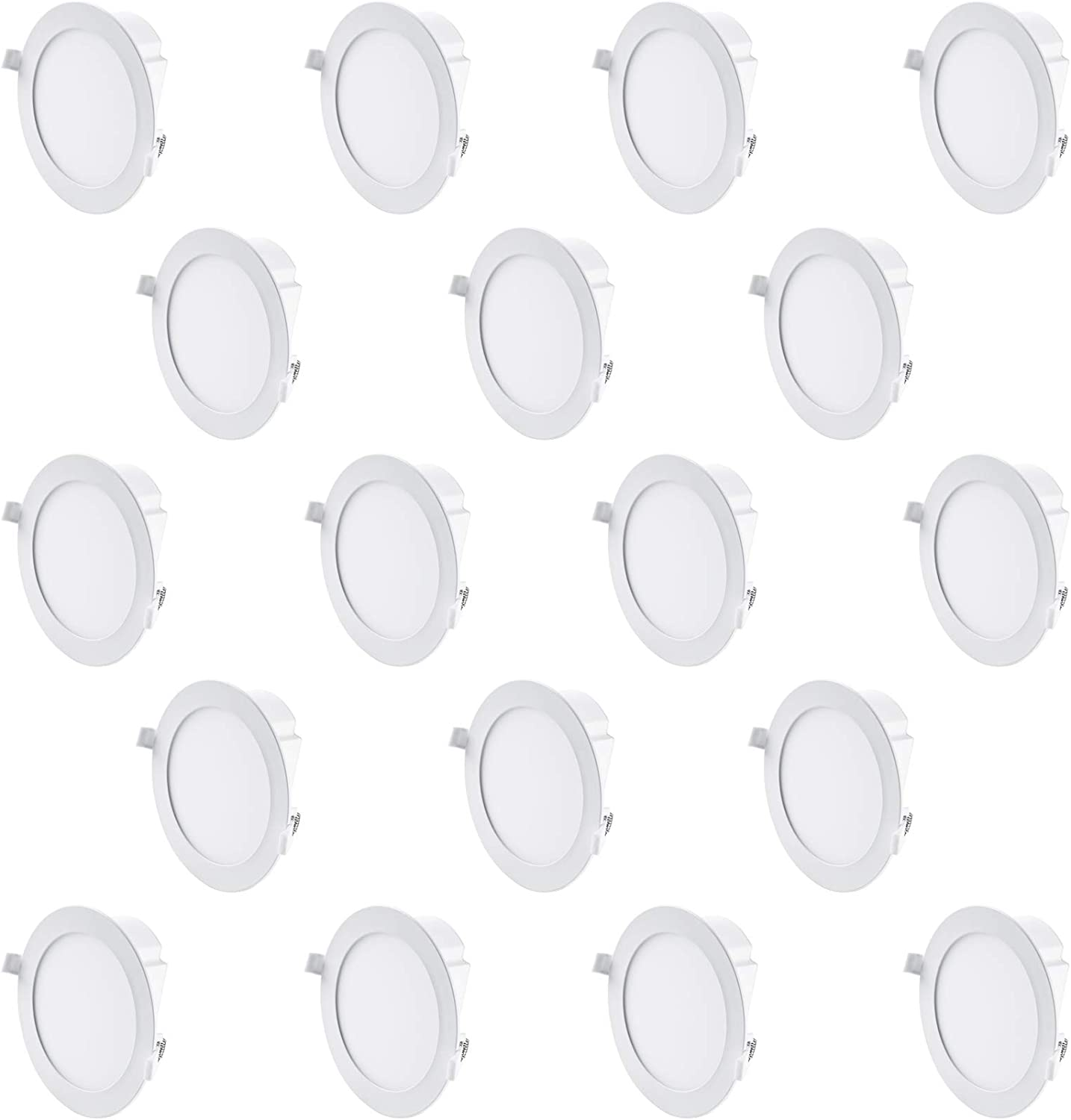 Hyperikon 6 Inch LED Recessed Lights with Integrated Junction Box, 11.6W=65W, Dimmable Downlight, UL, Energy Star, Soft White, 18 Pack