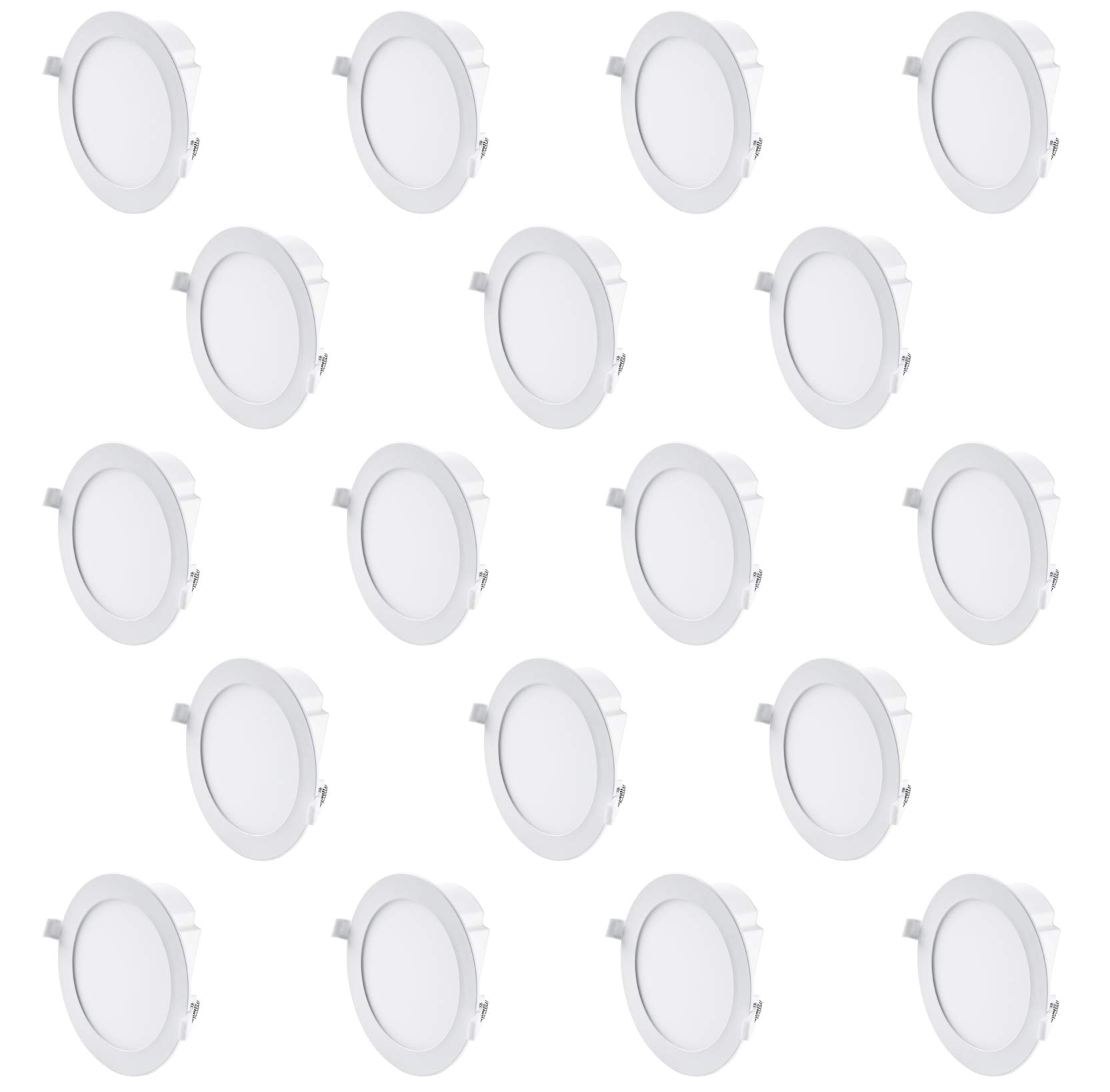 Hyperikon 6 Inch LED Recessed Lights with Junction Box, 65 Watt Replacement (11.6W), Dimmable Downlight, 4000K Daylight, UL, Energy Star, 18 Pack by Hyperikon