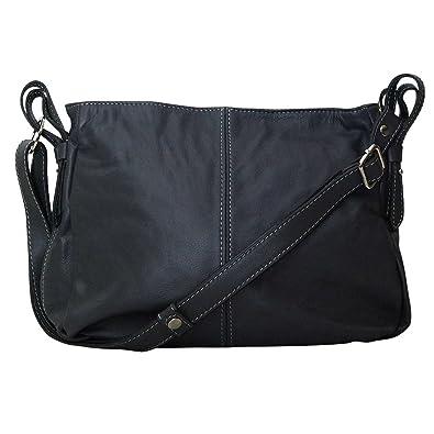 839074a142 Chapeau-tendance - Sac a main cuir gris Nani - - Femme: Amazon.fr ...
