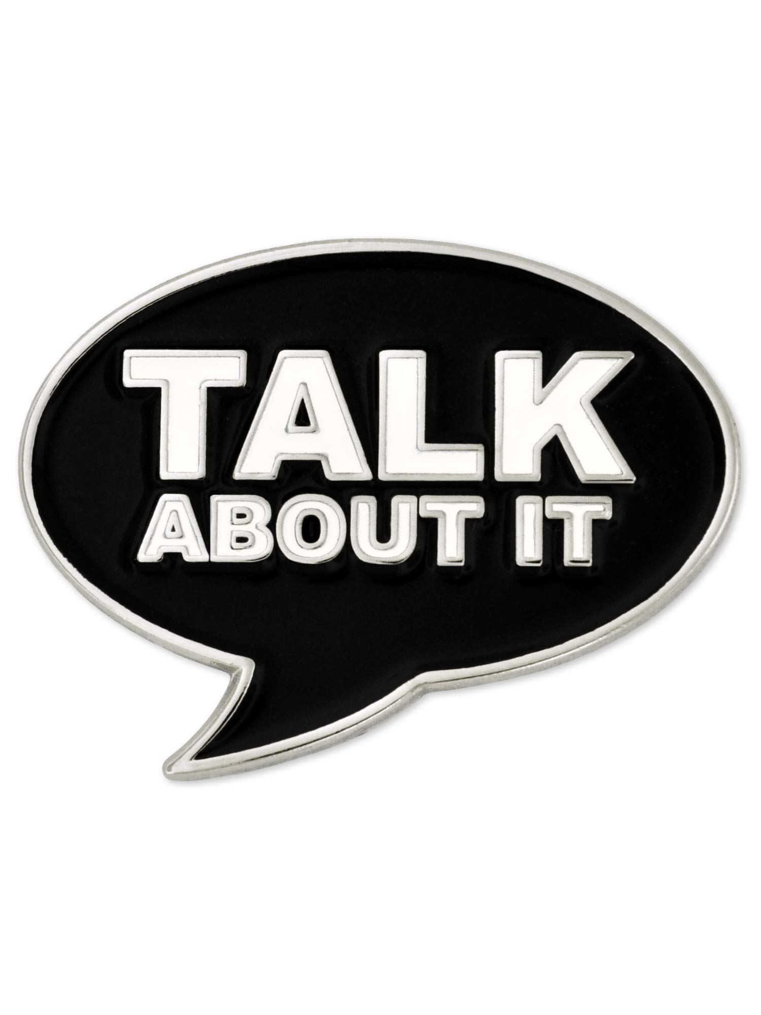 PinMart Talk About It Word Bubble Awareness for All Causes Enamel Lapel Pin by PinMart (Image #3)