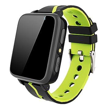 MeritSoar Tech Smartwatch Niños - Pantalla Táctil HD Reloj Deportivo Inteligente Teléfono con Reproductor de Música Llamada Chat de Voz Cámara SOS ...