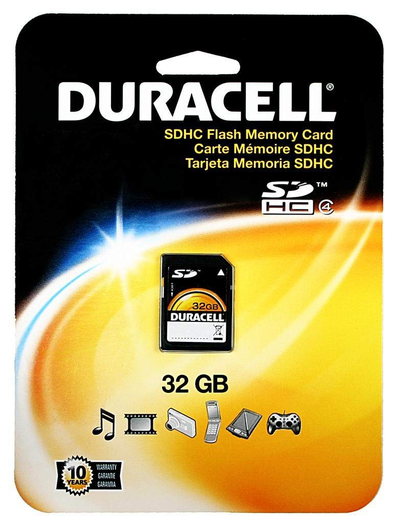 Amazon.com: Duracell - Flash memory card - 32 GB - Class 4 ...
