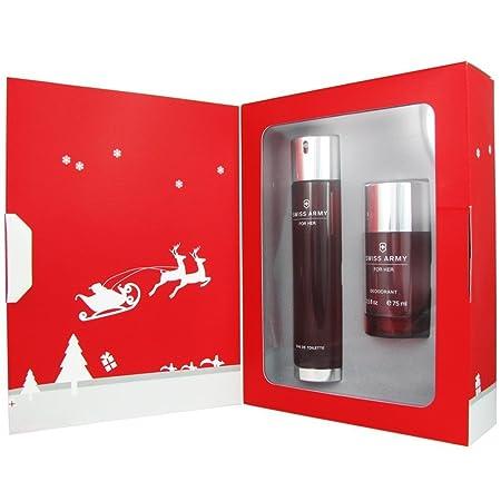 SWISS ARMY for Women Gift Set Eau De Toilette Spray and Deodorant Stick, 3.4 Fluid Ounce