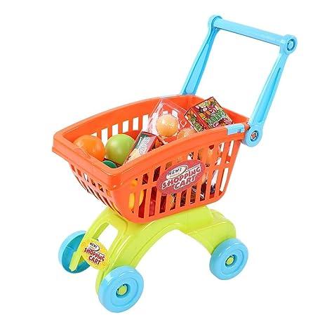 Dilwe Carrito de Compras de Juguete Trolley Play Set, Simulación Mini Supermercado Carrito de Compras