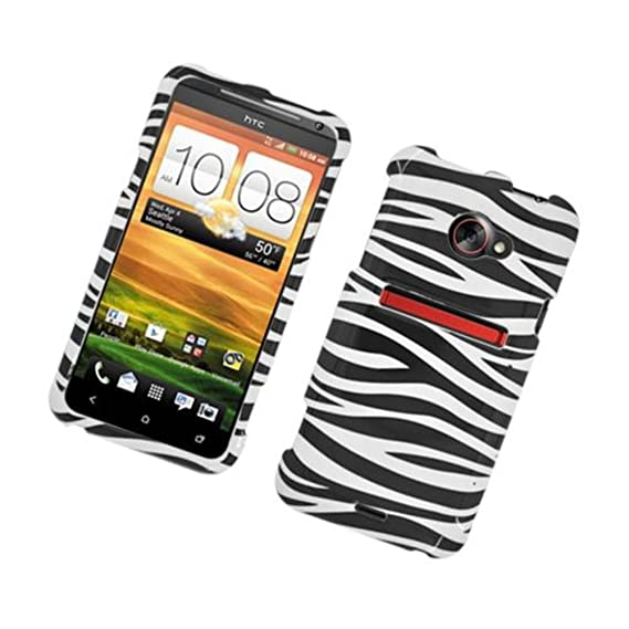 hot sale online 86e4a d4be2 Eagle Cell PIHTCEVOONEG128 Stylish Hard Snap-On Protective Case for HTC Evo  4G LTE/Evo One - Retail Packaging - Zebra Black/White