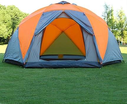 BBX Grupo Familiar Tienda portátil instantánea 5000 mm Columna de Agua Festival Camping mochilero Trekking Impermeable al Aire Libre cúpula Carpa 8 Personas: Amazon.es: Deportes y aire libre