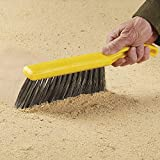 Rubbermaid Commercial 8 Inch Counter Brush, Flagged Polypropylene Fill for Smooth Surface Sweeping, Silver
