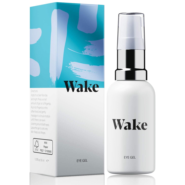Wake Skincare Eye Gel - Hydrating Eye Serum for Puffy Eyes, Dark Circles, Eye Bags, Crows Feet and Wrinkles – Vitamin E – Collagen - 30ml Anti Ageing Eye Cream: Beauty
