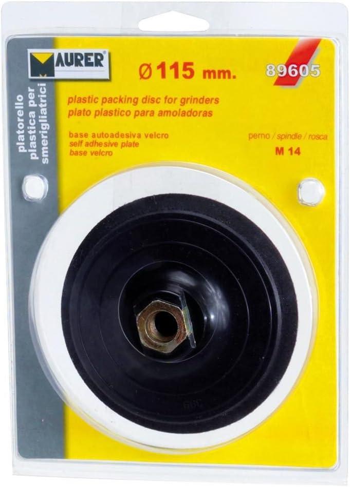 Maurer 9100667-velcro Piatto Grinder 115/mm