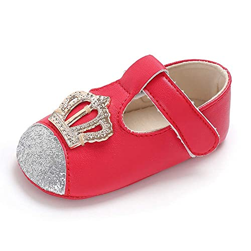 d915b276d277 SOFMUO Baby Moccasins Infant Girls Princess Sparkly Soft Sole Toddler First  Walker Newborn Crib Shoes