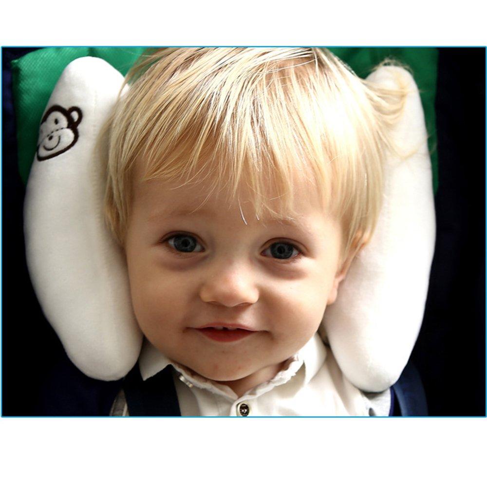 Beb/é Cabeza ajustable ayuda del cuello reposacabezas para los asientos del coche Cochecito Cochecito Rocker Banana Forma viaje Cochecito de ni/ño amortiguador de la almohadilla