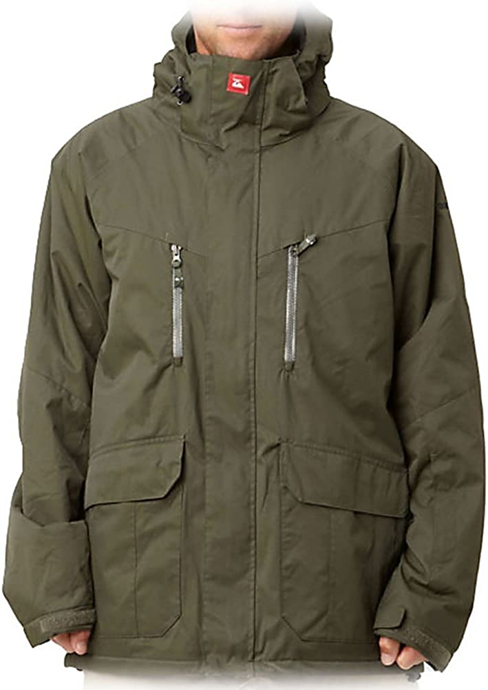 QUIKSILVER SNOW Men`s Pirana Insulated Jacket, XL, ARMY: Clothing