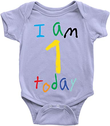 Blue Glitter 1st First Birthday Number 1 One Boys Baby Grow Bodysuit