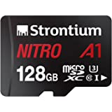 Strontium Nitro A1 128GB Micro SDXC Memory Card 100MB/s A1 UHS-I U3 Class 10 with High Speed Adapter for Smartphones Tablets Drones Action Cams (SRN128GTFU3A1A)
