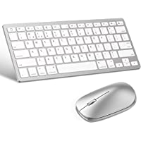 OMOTON Bluetooth Keyboard and Mouse for iPad and iPhone (iPadOS 13 / iOS 13 and Above), Compatible with New iPad 10.2, iPad Pro 12.9/11.0, iPad Mini 5, and Other Bluetooth Enabled Devices, Silver