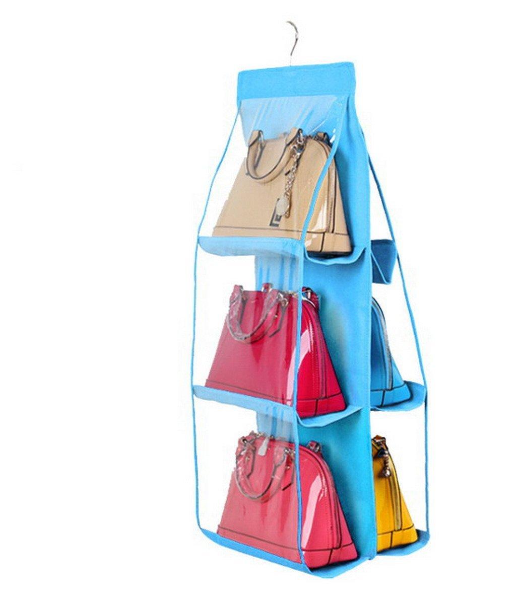 6 Pocket Large Clear Purse Handbag Hanging Storage Organizer Closet Wall Door AHA