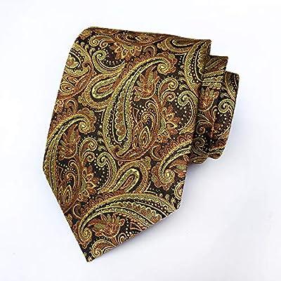 Secdtie Men's Paisley Jacquard Woven Silk Tie Luxury Formal Party Suit Necktie