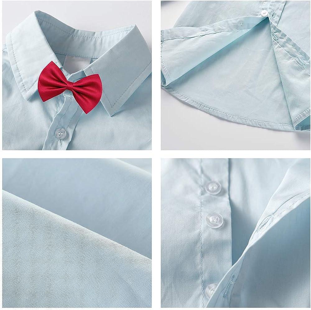 Nwada Completo Elegante Bambino Costume Pasqua Vestito Cravatta Comunione Abito Bimbo Camicia Blu e Pantaloni e Gilet 2-7 Anni