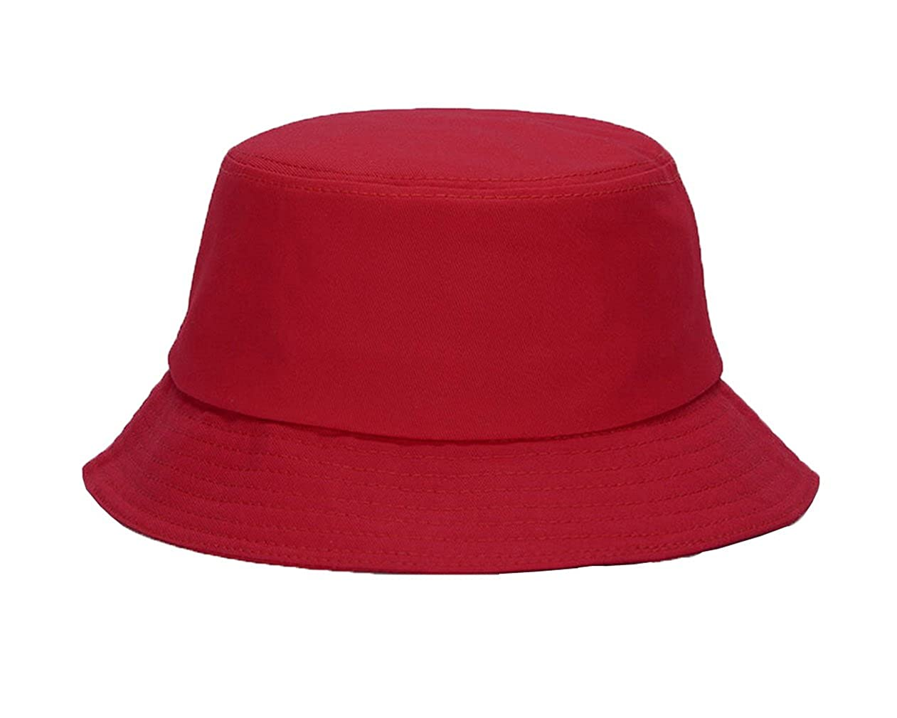 COMVIP Unisex Casual Cotton Plain Brim Sun Proction Summer Bucket Hat 7HAT039B*1$EE