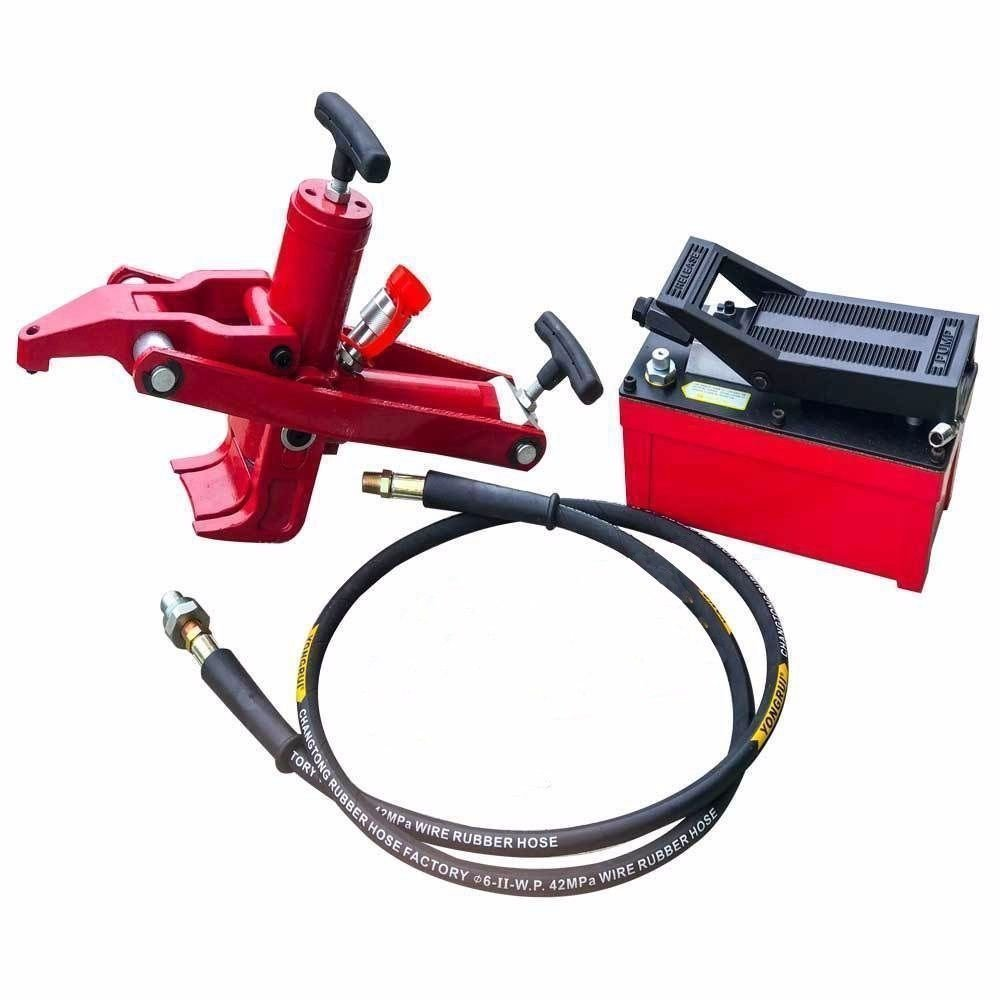 XK Bead Breaker 10000PSI Hydraulic Bead Breaker for Tractor Truck Tire Bead Breaker Kit with Hydraulic Metal Foot Pump and Air Hose (Hydraulic Bead Breaker)