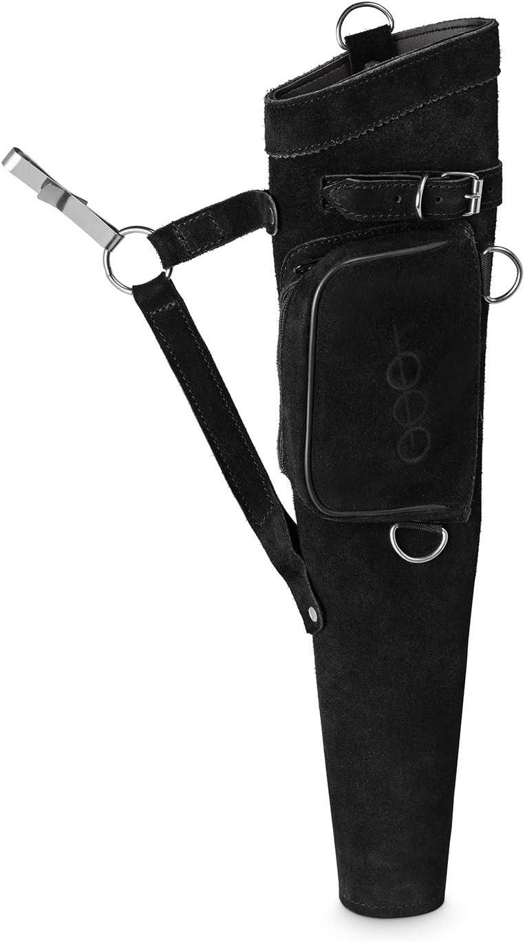 Est-Bogensport Hunter Suede Side Quiver Right Hand with Metal Clip