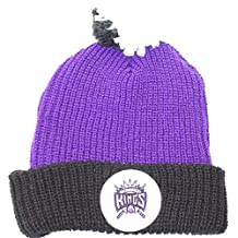 NBA Officially Licensed Sacramento Kings Mitchell & Ness Purple Knit Cuffed Pom Beanie Hat Cap Lid ...