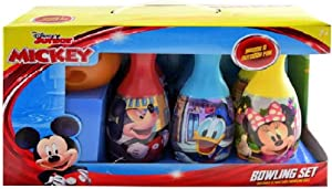 Junior w Display Box- Disney Mickey Mouse Indoor& Outdoor Bowling Set -