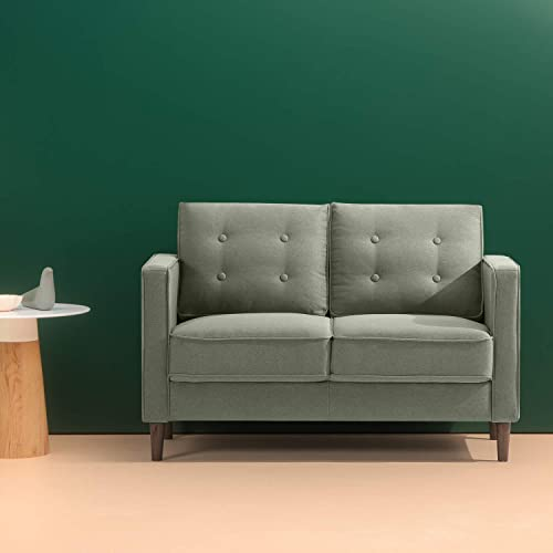 ZINUS Lauren Loveseat / Button Tufted Cushions / Easy
