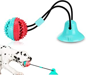 Dog Toys, Dog Chew Toys for Aggressive chewers, Puppy Dog Training Treats Teething Rope Toys for Boredom, Dog Puzzle Treat Food Dispensing Ball Toys for Puppies Teething Small Dogs