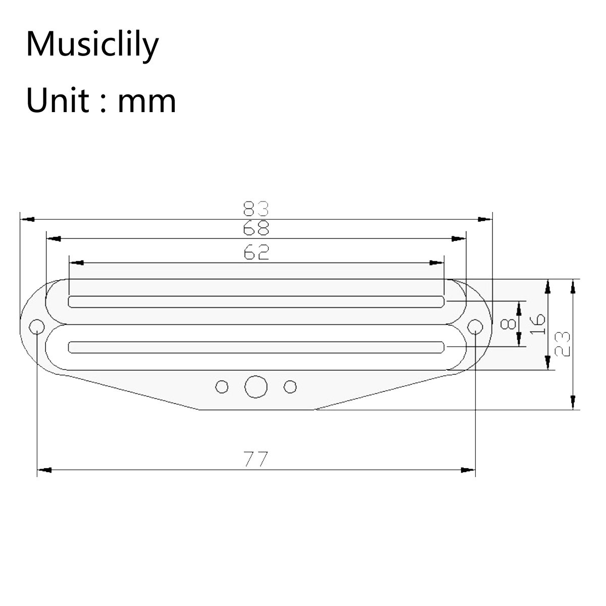 Amazon.com: Musiclily Dual Rail Humbucker Strat Pickup Bridge Neck Pickups  Single Coil Size Hot Blaster for Fender Stratocaster Squier: Musical  Instruments