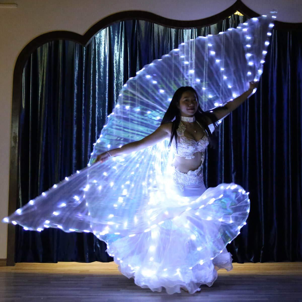 316 lampadine Bldance Ali di Iside LED con Bastoni Prestazioni e Pratica