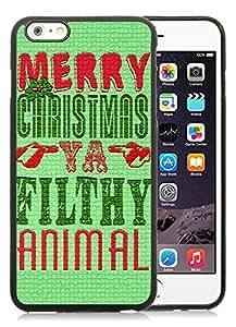 Individualization iPhone 6 Plus Case,Merry Christmas Black iPhone 6 Plus 5.5 TPU Case 21