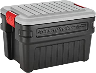 product image for Rubbermaid ActionPacker️ 24 Gal Lockable Storage Bins Pack of 2, Industrial, Rugged Storage Containers with Lids